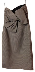 Valentino Back Bow Houndstooth Dress