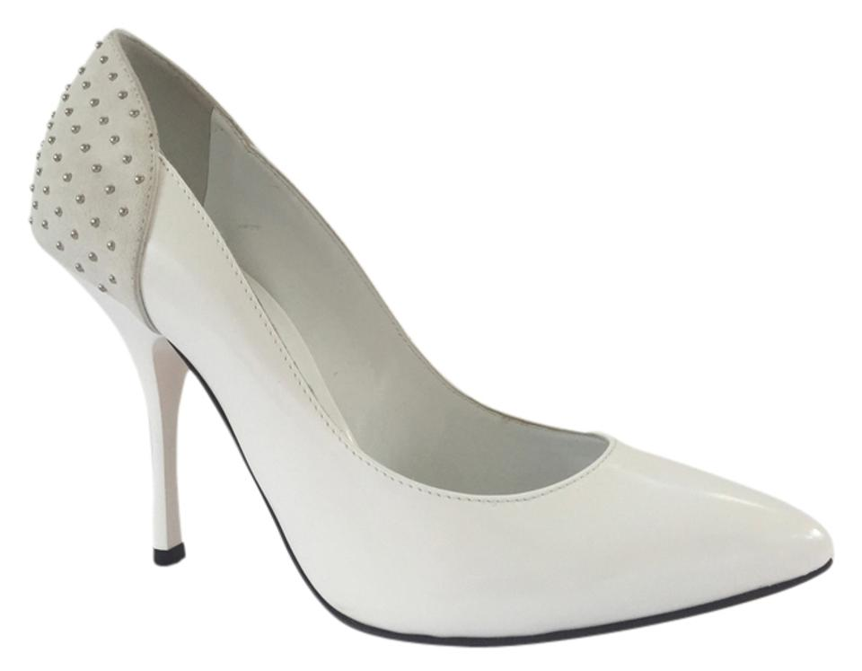 Barneys New York / White / York Grey Pumps 8879ab