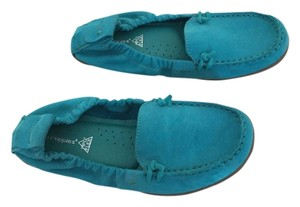 Hush Puppies Slip On Teal Flats