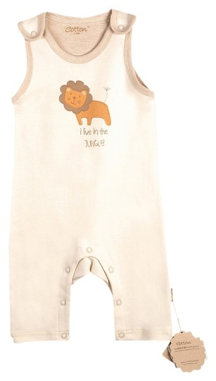 Eotton Certified Organic Cotton Sleeveless Coverall- small (3-6 months)