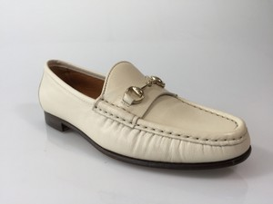 Gucci Leather Ivory Flats