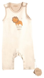Eotton Certified Organic Cotton Sleeveless Coverall- medium (6-9 months)