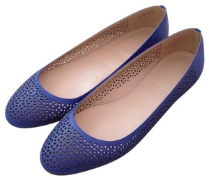 J.Crew Perforated Leather Blue Flats