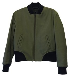 Rag & Bone Olive Leather Trim Challenge Jacket