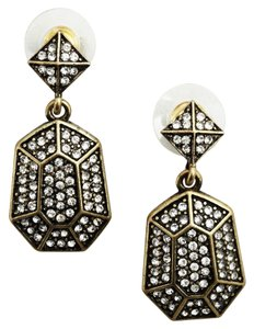 R J Graziano Hanging Pave Earrings