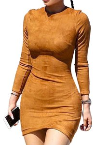 Other Mini Bodycon Mini Cocktail Evening Winter Autumn Women Ladies Dress