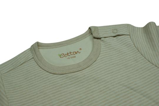 Eotton Certified Organic Cotton Striped T-Shirt- small (6-9 months)