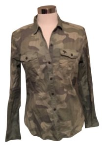 Abercrombie & Fitch Button Down Shirt Camo
