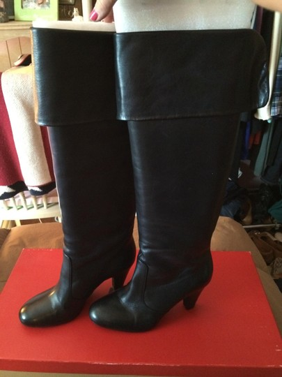 5/48 Black Leather Boots