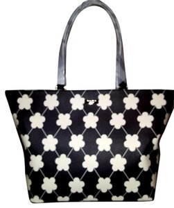 Kate Spade Tote in Black with with flower decorations