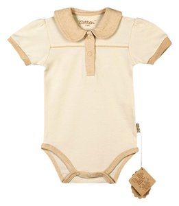 Certified Organic Cotton Bodysuit w/ Collar - Large (9-12 Months)