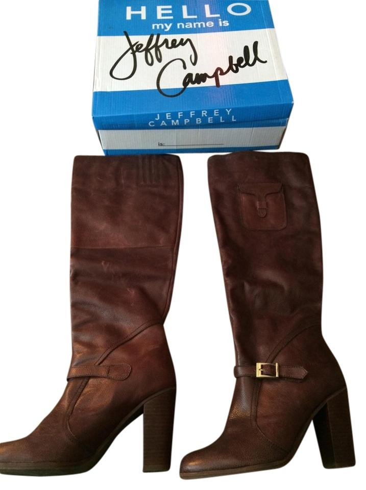 Ladies Jeffrey Leather Campbell Brown Leather Jeffrey Boots/Booties special purchase a26852