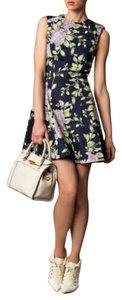 Rag & Bone short dress Navy Blue Floral on Tradesy