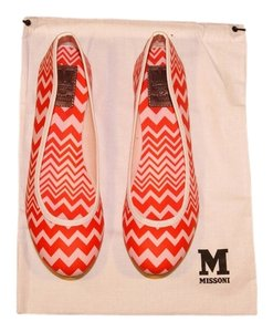 Missoni Signature Red/Pink Flats