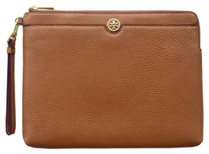 Tory Burch Robinson Pebbled Zip Pouch for iPad
