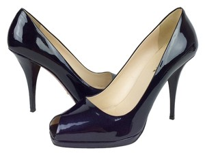 Prada Leather Pump Black Pumps