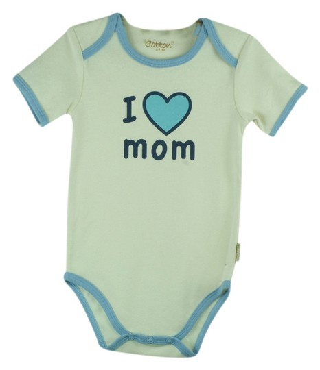 "Other Certified Organic Cotton ""I Love Mom"" Bodysuit - Medium (6-9 Months)"