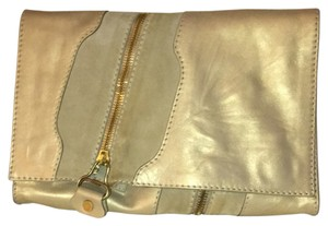 Jimmy Choo Gold Leather Clutch