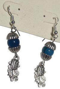 Other Handmade Agate gemstone fish earrings E109