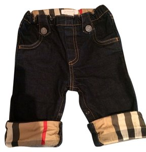 Burberry Kids Straight Leg Jeans-Dark Rinse