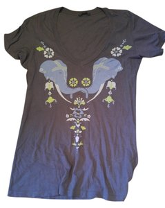 Truly Madly Deeply Urban Outfitters Elephant T Shirt Grey