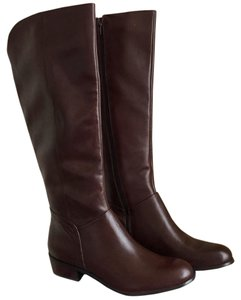Sixth & Love Leather Riding Boot Brown Boots
