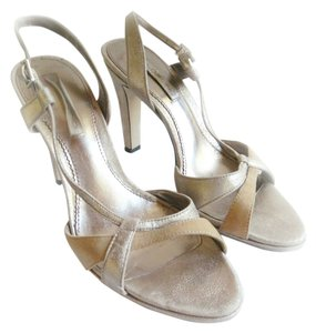 Bandolino Ankle Strap Metallic Silver Evening Suede gold Sandals