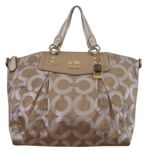 Coach Satchel in Metallic Gold