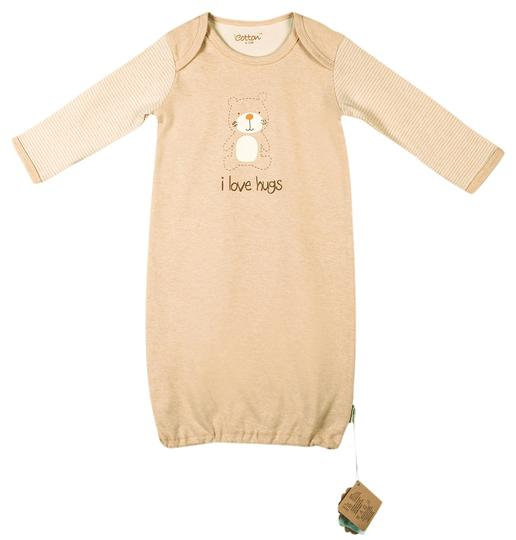 Eotton Certified Organic Cotton Long Sleeve Baby Shirt- Small (0-6 months)