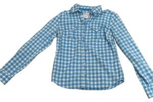 Aéropostale Button Down Shirt Blue & white
