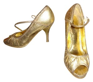 Wild Diva gold, black Pumps