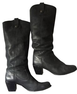 Frye Black Pebbled Leather Boots