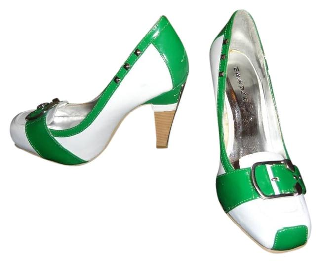 Item - Green White Pumps Size US 8