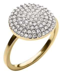 Michael Kors Michael Kors Brilliance Statement Pave Disc Ring/Goldtone