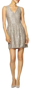 Eight Sixty Silver Champagne Sparkled Dress