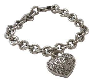 Pave' Diamond Heart Charm on 6.5