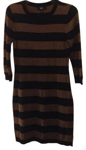 Mossimo Supply Co. short dress Black/light brown on Tradesy