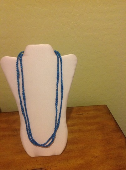 Danielle Stevens Aqua Blue Acrylic Necklace
