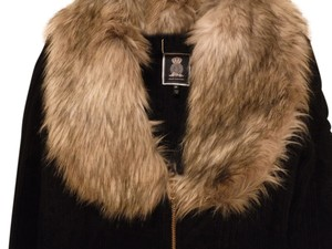 Juicy Couture Faux Fur Wool Coat
