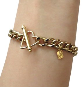 Elliot Francis heart toggle chain stacking bracelet