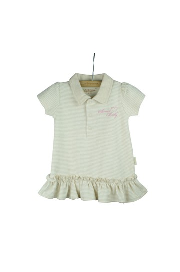 Eotton Certified Organic Cotton Shirt Dress w/ Ruffles and Bottoms- small (3-6 months)