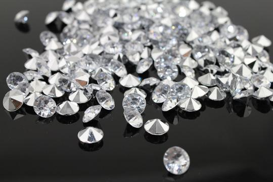 Clear - 40000x 4.5mm 1/3 Ct Acrylic Diamond Scatter Confetti Centerpieces Table Top Decor Vase Filler Other Image 1