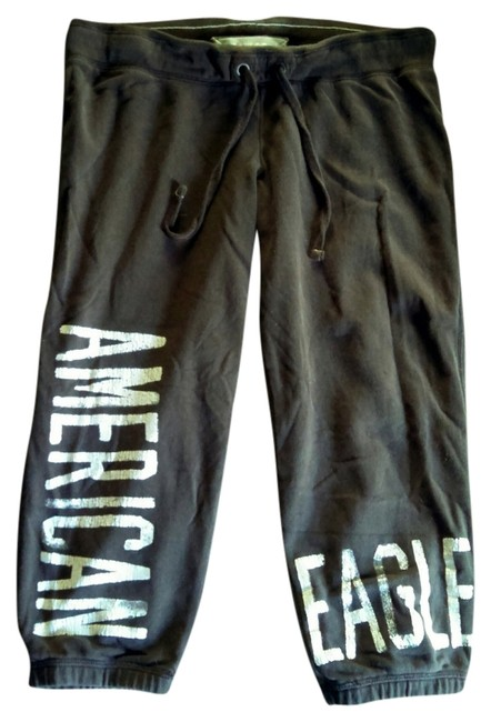 American Eagle Outfitters Banded Fleece Soft Juniors Capris Brown