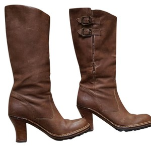 Frye Leather Dark Brown Boots