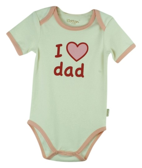 "Eotton Certified Organic Cotton ""I Love Dad"" Bodysuit - Large (9-12 Months)"