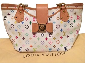 Louis Vuitton Satchel in White/Multi
