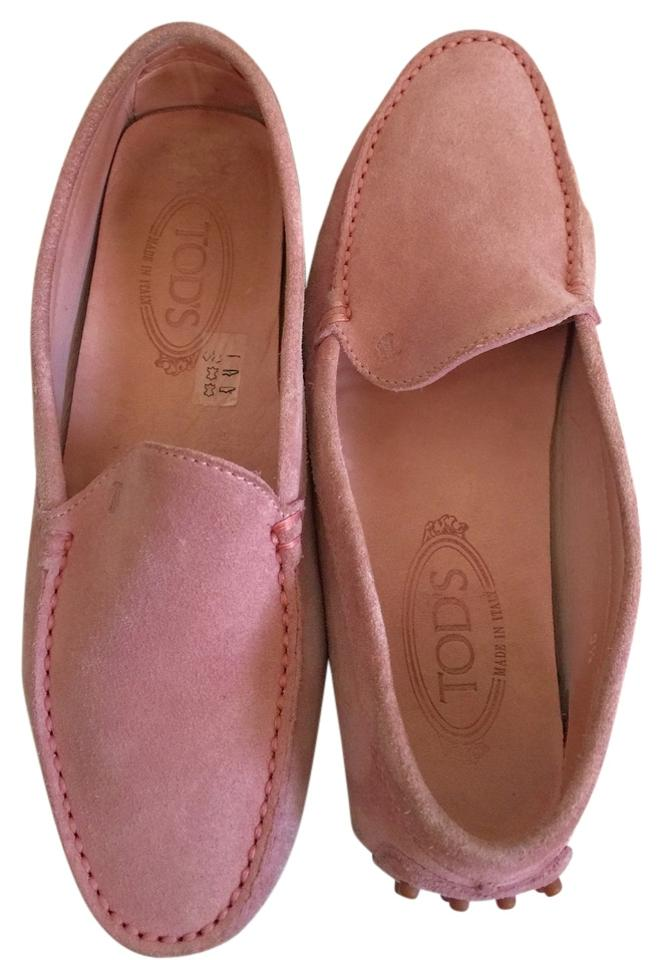 womens Flats Tod's Pink Suede Gommini Flats womens Used in durability 18efe4