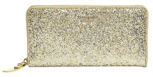 Kate Spade New Glitter Bug Lacey Gold Continental Wallet