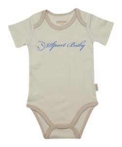 Eotton Certified Organic Cotton Sport Baby Bodysuit-small 3-6 mo