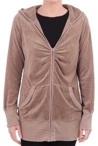 Juicy Couture Velvet Velour Hoodie Brown Jacket Jacket
